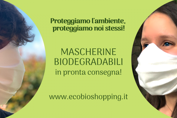 Mascherine biodegradabili in pronta consegna